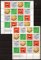 Canada 1972 Y.T 485/88+485a/88a In S/S Of 4 Blocks MNH/** VF/F - Neufs