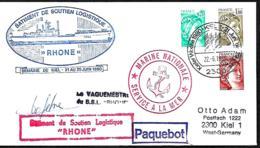 France. L. Bâtiment De Soutien Logistique Rhône  Postée à Kiel (RFA) > Kiel 1980 - Marcophilie (Lettres)