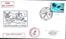 France. L. Aviso Second Maître Le Bihan  Postée à Bruges (Brugge) > Gent  1986 - Marcophilie (Lettres)