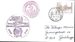 France. L. Aviso Lieutenant De Vaisseau Le Hénaff  Postée à Gand (Gent) > Gentbrugge  1986 - Marcophilie (Lettres)