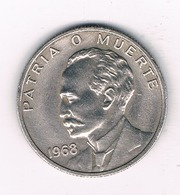 VEINTE  CENTAVOS  1968   CUBA /0594/ - Cuba