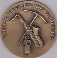 PORTUGAL MEDAL - BANDA DE MUSICA DOS MINEIROS DO PEJÃO - AVEIRO - MUSIC BAND  THE MINERS OF PEJÃO - CASTELO DE PAIVA - Professionnels / De Société