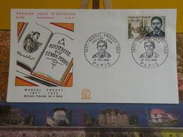 Marcel Proust écrivain Français (75) Paris - 12.2.1966 FDC 1er Jour N°556 - Coté 2,50€ - FDC