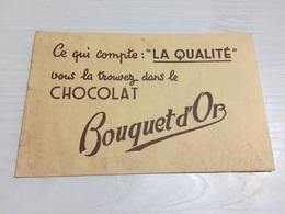 Buvard Ancien CHOCOLAT BOUQUET D'OR - Chocolat