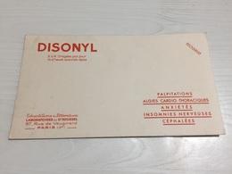 Buvard Ancien DISONYL PALPITATIONS INSOMNIES - Chemist's