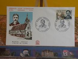 Marcel Proust L'église De Illiers (28) Illiers-Combray - 12.2.1966 FDC 1er Jour N°556 - Coté 2,20€ - 1960-1969