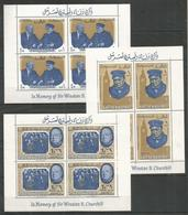 4x RAS AL KHAIMA - MNH - Famous People - Winston Churchill - Sir Winston Churchill