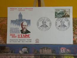 Hippolyte Adolphe Taine (06) Vouziers - 9.7.1966 FDC 1er Jour N°574 - Coté 2€ - FDC