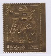SHARJAH AERIENS ** MNH Neuf Sans Charnière, 1 Valeur, TB (D8262) Timbre OR, Cosmos, Histoire De L'espace - 1970 - Fudschaira