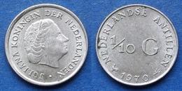 NETHERLANDS ANTILLES - Silver 1/10 Gulden 1970 KM# 3 Juliana - Edelweiss Coins - Netherland Antilles