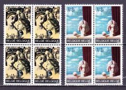 1970 Nr 1564-65** Zonder Scharnier,blokjes Van 4. (gom Van De Jaren 70).Solidariteit. - Belgique