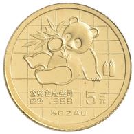 China - Volksrepublik - Anlagegold: Lot 3 Münzen 1/20 OZ China Panda: 1 X 5 Yuan 1989, 2 X 20 Yuan 2 - Chine