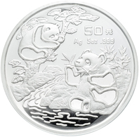 China - Volksrepublik: 50 Yuan 1994, Silberpanda. 155,50 G (5 OZ), 999/1000 Silber, KM# 617, Mit Chi - Chine