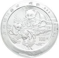China - Volksrepublik: 100 Yuan 1994, Silberpanda. 373,24 G (12 OZ), 999/1000 Silber, KM# 618, Mit C - Chine