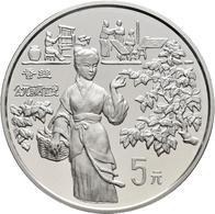 China - Volksrepublik: Lot 5 X 5 Yuan 1994, Serie Erfindungen Und Entdeckungen (Oriental Inventions) - Chine