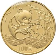 China - Volksrepublik - Anlagegold: 100 Yuan 1994, Gold 999, 1 Oz, Original Verschweißt, Prägefrisch - Chine
