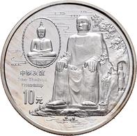 China - Volksrepublik: 10 Yuan 1997 Chinesisch-Thailändische Freundschaft. KM# 1051. 31,1 G (1 OZ), - Chine