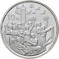 China - Volksrepublik: Lot 3 X 10 Yuan 1999, Serie 50 Jahre Volksrepublik China: Nationale Befreiung - Chine