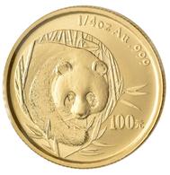 China - Volksrepublik - Anlagegold: 100 Yuan 2003, Goldpanda, KM# 1471, Friedberg B16. 7,77 G (1/4 O - Chine