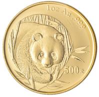 China - Volksrepublik - Anlagegold: 500 Yuan 2003, Goldpanda, KM# 1474, Friedberg B14. 31,11 G (1 OZ - Chine