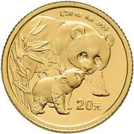 China - Volksrepublik - Anlagegold: 20 Yuan 2004, Goldpanda, KM# 1529, Friedberg B18. 1,56 G (1/20 O - Chine