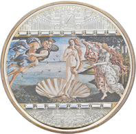 Cook Inseln: MASTERPIECES OF ART: Die Geburt Der Venus Von Sandro Botticelli, 20 Dollars 2008, 3 OZ - Cook