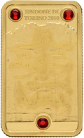 Cook Inseln - Anlagegold: 25 Dollars 2010 Turiner Grabtuch (Shroud Of Turin), 4 G 999/1000 Gold, 3 S - Cook