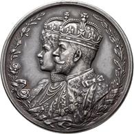 """Indien: Britisch Indien/East India Company, Georg V. 1910-1936: Silbermedaille 1911 (""""Delhi Durbar M - Inde"""