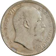 Indien: Britisch-Indien, Edward VII. 1901-1910: 1 Rupie 1906 (Calcuta), KM# 508, Stempeldrehung Ca. - Inde