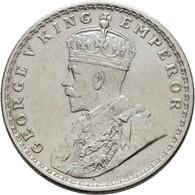 Indien: Britisch-Indien, Georg V. 1910-1936: 1 Rupie 1918, KM# 524, Vorzüglich. - India