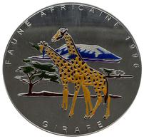 Kongo, Republik (Brazzaville): 20.000 Francs 1996, Faune Africaine, Vs: Die Erste 1-Kilo-Farb-Silber - Congo (Rép. Démocratique, 1964-70)