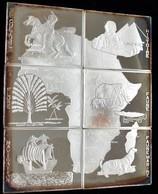 Kongo, Republik (Brazzaville): Set 6 X 1000 Francs 1997, Komplettes Mosaik Aus X 1 Unze Silber In Ba - Congo (Rép. Démocratique, 1964-70)