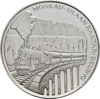 Mongolei: 2500 Tögrög (Tugrik) 1995, Transsibirische Eisenbahn Moskau - Ulaan Baatar - Peking, Schre - Mongolie