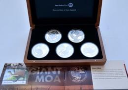Neuseeland: Giants Of New Zealand: 5 X 1 Dollar 2009, Je 1 OZ 999/1000 Silber, Mit Motiven Der Größt - Nouvelle-Zélande