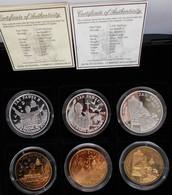 Uganda: 6 Münzen Set Papst Johannes Paul II.: 3 X 2.000 Shillings 2005 Aus 999/1000 Silber Sowie 3 X - Ouganda