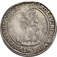 Niederlande: Nijmegen: Taler O. J. (1555), Mit Titel Karls V., Davenport 8543, Delmonte 633, 19,43 G - [ 2] 1795-1814 : Napoleonic And French Protectorate/Domination