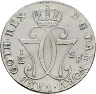 Norwegen: Christian VII. 1766-1808: ½ Speciedaler 1777, Kongsberg, Ahlström 18, Sehr Schön. - Norvège