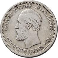Norwegen: Oscar II. 1872-1905: Lot 3 Münzen: 10 Öre / 3 Sk. 1874, KM# 345; 50 Öre / 15 Sk. 1874, KM# - Norvège