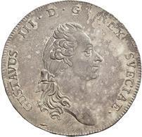 Schweden: Gustav III. 1771-1792: Riksdaler 1790, Stockholm, 29,29 G, Davenport 1736, Ahlström 52, Se - Suède