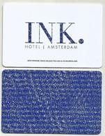 Netherland/ Niederlande Hotelkarte Keycard Vom Hotel INK. In Amsterdam - Cartes D'hotel