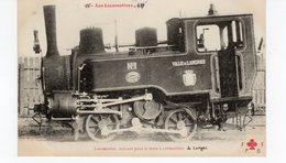 Les Locomotives  Servant Pour Le Train à Crémaillère De Langres. - Trains