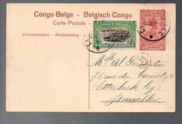 CONGO - ENTIER STIBBE 43 - VUE 47 - ELISABETHVILLE Type 5 - 1921 - PL8 - Ganzsachen