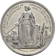 Medaillen Deutschland: 1. Deutsches Bundes Schießen 1862 In Frankfurt A.M.: Lot 4 Medaillen; Silberm - Allemagne