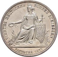 Medaillen Deutschland: 4. Deutsches Bundes-Schießen 1872 In Hannover: Lot 2 Medaillen; Feinsilbermed - Allemagne