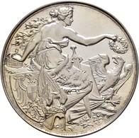 Medaillen Deutschland: 6. Deutsches Bundes-Schießen 1878 In Düsseldorf: Lot 2 Medaillen; Silbermedai - Allemagne