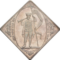 Medaillen Deutschland: 8. Deutsches Bundes-Schießen 1884 In Leipzig: Lot 2 Medaillen; Silberklippe 1 - Allemagne