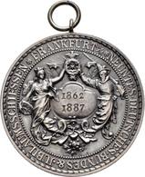 Medaillen Deutschland: 9. Deutsches Bundes-Schießen 1887 In Frankfurt A.M.: Lot 6 Medaillen; Silberm - Allemagne