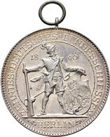 Medaillen Deutschland: 10. Deutsches Bundes-Schießen 1890 In Berlin: Lot 2 Medaillen; Silbermedaille - Allemagne