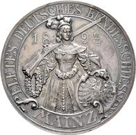 Medaillen Deutschland: 11. Deutsches Bundes-Schießen 1894 In Mainz: Lot 2 Medaillen; Silbermedaille - Allemagne