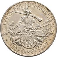 Medaillen Deutschland: 12. Deutsches Bundes-Schießen 1897 In Nürnberg: Lot 2 Medaillen; Silbermedail - Allemagne